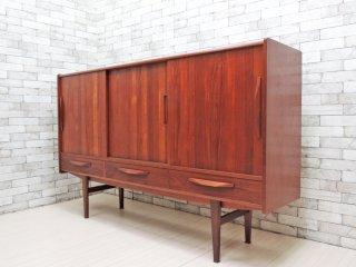 ESモブラー ES Møbler チーク材 サイドボード カクテルキャビネット デンマーク SILKEBORG 1950-60s 北欧ビンテージ ●