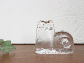 リサラーソン Lisa Larson Royal Krona Cat ねこ 北欧雑貨 ガラス ヴィンテージ ◎