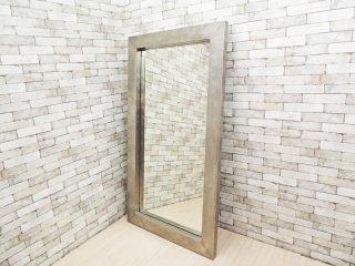 インダストリアルスタイル Industrial Style ステンレス スタンドミラー 鏡 大型 姿見 店舗什器 H190 ●