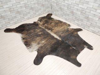 大判 カウラグ 牛革カーペット 水牛 ラグマット 毛皮 敷物 アルゼンチン製 223×202cm ●