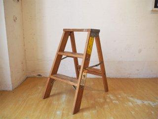 ミシガンラダー MICHIGAN LADDER ウッドステップラダー Wood step ladder Sサイズ パイン材 折畳 脚立 踏み台 USA製 ★