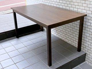 無印良品 MUJI ダイニングテーブル タモ材 ブラウン W140 シンプルデザイン ■