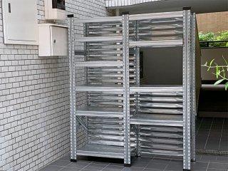 メタルシステム METALSISTEM スチールシェルフ 2列 棚板10枚 インダストリアルスタイル アスプルンド取扱い ■