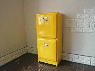 ダルトン DULTON 分別2段 ゴミ箱 トラッシュカン DOUBLE DECKER ダブルデッカー イエロー ダイナー家具 アメリカン◎