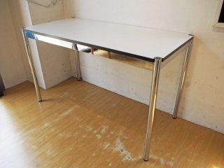USMモジュラーファニチャー USM Haller USMハラーテーブル ワーキングデスク カンファレンステーブル W125 アジャスター 高さ調整機能付 ホワイト B ★