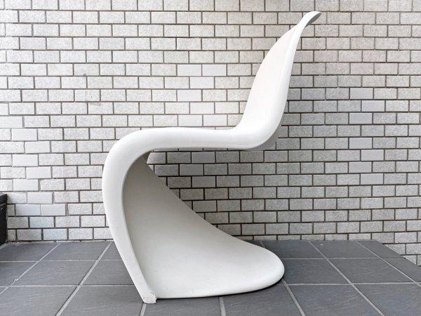 ヴィトラ vitra パントンチェア Panton Chair ホワイト ヴェルナー・パントン Panton スタッキングチェア スペースエイジ ミッドセンチュリー ■