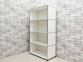 ユーエスエムハラー USM Haller モジュラーファニチャー Modular Furniture ハラーシステム 1×4 シェルフ ピュアホワイト ●