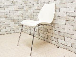 カルテル Kartell マウイチェア Maui chair ホワイト ヴィコ・マジストレッティ デザイン スタッキング A ●