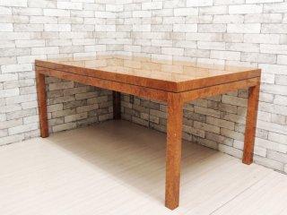 モビリア mobilia バーズアイメープル ダイニングテーブル エグゼクティブテーブル 幅160cm 鳥眼杢 モダンスタイル ●