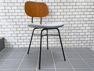 グラフ graf プランクトンチェア Plankton chair H ダイニングチェア チーク材×スチール脚 ファブリックシート ポルトグレー インダストリアルデザイン A ■