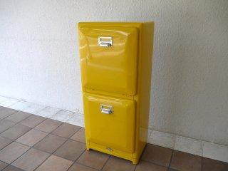 ダルトン DULTON 分別2段 ゴミ箱 トラッシュカン ダストボックス ダブルデッカー DOUBLE DECKER イエロー アメリカンダイナーズスタイル ◇