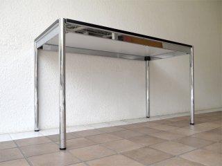 ユーエスエムハラーシステム USM Haller テーブル W1250×D600 美品 白ラミネート天板 定価¥112,741- デスク オフィス家具 MoMA 店舗什器 スイス製 B ◇