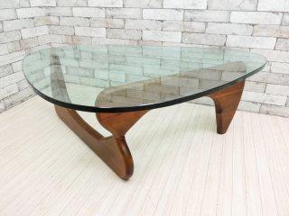 イサムノグチ Isamu Noguchi コーヒーテーブル Coffee Table ガラス天板厚19mm リプロダクト品 デザイナーズ家具 名作 ●
