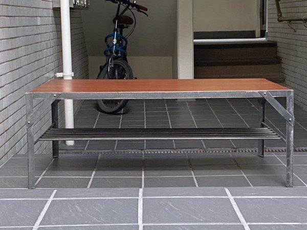 ウニコ unico ランバーミニ LUMBER-mini ローテーブル マホガニー材天板×アイアン インダストリアルスタイル ■