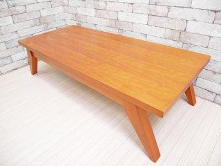 ウニコ unico コモド COMODO ローテーブル 希少 廃盤 W125cm チェリー材 ●