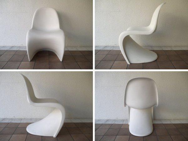 ヴィトラ vitra. パントンチェア Panton Chair ホワイト ヴェルナー・パントン Panton ミッドセンチュリーモダン 名作チェア スペースエイジ 定価¥36,300- 伊製 ◇