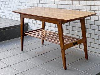 カリモク60 karimoku60 リビングテーブル Sサイズ ウォールナットカラー デコラトップ天板 幅90cm レトロモダン ミッドセンチュリー ■