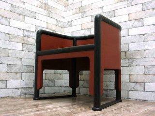 赤木明登 漆塗りの椅子 アームチェア ラウンジチェア (B) 二十年ほど前の希少な作品 名古屋のギャラリーにて購入 塗師 塗り物 漆器 ●