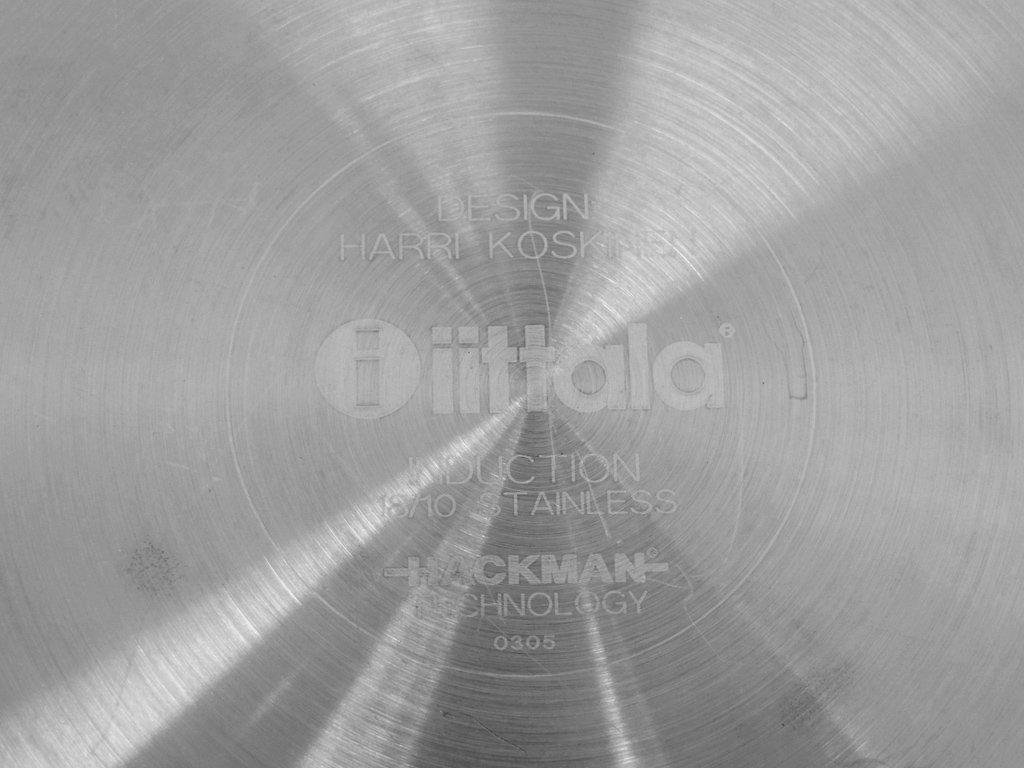 イッタラ iittala ハックマン Hackman オールスチール All Steel キャセロール 両手鍋 5L ステンレス製 ハッリ・コスキネン 廃盤品 ●