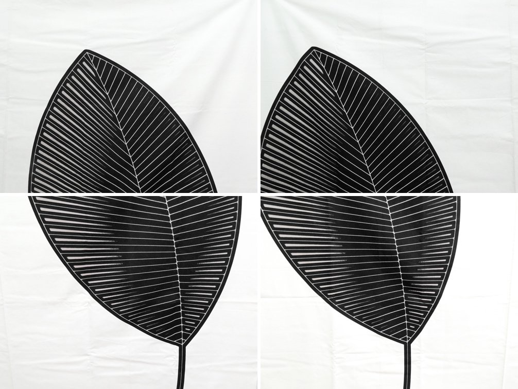 マリメッコ marimekko RO ファブリック 生地 ブラック Bjorn Dahlstrom 廃番 2006 148×166 ●