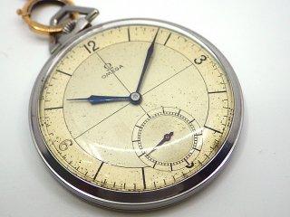 オメガ OMEGA 1930年代頃 ビンテージ 懐中時計 手巻き Cal.375L 15石 青針 ポケットウォッチ ◇