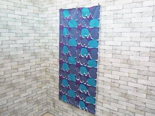 レトロポップ ビンテージ パープル×ブルー ファブリック ハギレ生地 182×380 ●