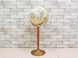 リプルーグル REPLOGLE ヨークタウン型 地球儀 フロアスタンドモデル 2way アメリカ 定価2.53万円 ●