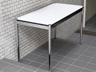USMモジュラーファニチャー USM Haller ハラーテーブル ワーキングデスク カンファレンステーブル W125 アジャスター 高さ調整機能付き ホワイト モダンデザイン A ■