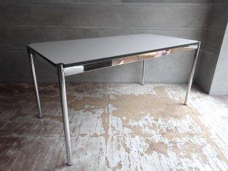 USMモジュラーファニチャー USM Haller USMハラーテーブル ワーキングデスク ダイニングテーブル W150 アジャスター 高さ調整機能付き ホワイト モダンデザイン ♪