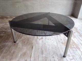 マシンエイジ Machine Age トライアングルテーブル Triangle Table スモーク ガラステーブル 長大作 希少 ♪