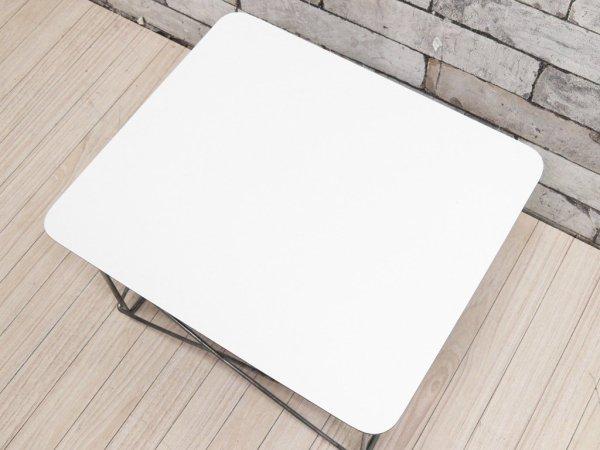 ハーマンミラー Herman Miller LTRT イームズ ワイヤーベース ローテーブル Eames Wire Base Low Table ホワイト ミッドセンチュリー ●