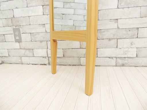 ウニコ unico クラルスミニ CLARUS-mini スタンドミラー アッシュ無垢材 姿見 立て掛け式 ナチュラルスタイル ●