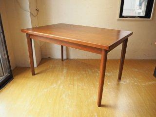 デンマーク ビンテージ チーク材 エクステンションダイニングテーブル Teak Extension dining table DENMARK 北欧 ★