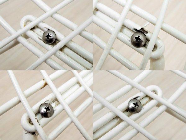 ノール Knoll 420 サイドチェア ワイヤーチェア シートパッド付き ハリー・ベルトイア ホワイト ノル ●