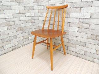 EDSBY ファネットチェア Fanett chair イルマリ・タピオヴァーラ ダイニングチェア スウェーデン製 北欧ビンテージ ●