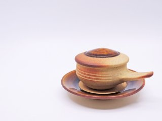 出西窯 SHUSSAIGAMA エッグベーカー 飴釉 耐火土 器 バーナード・リーチ 民藝 くらしの道具 出雲 ●