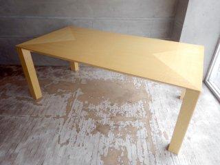 高級木材 メープル材 ダイニングテーブル w180 モダンエレガントデザイン  ♪