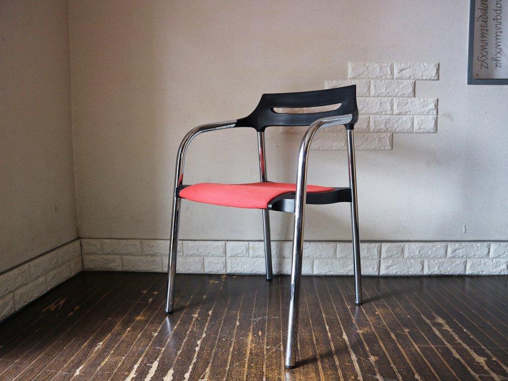 ウィルクハーン Wilkhahn 310/3 Senzo Chair スタッキング アームチェア 2脚セット ファブリック レッド 廃盤 ◎