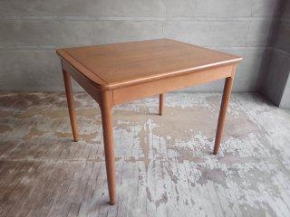 日進木工 伸長式ダイニングテーブル エクステンション オーク材 ナチュラル ♪