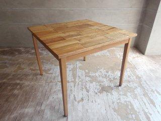 オールドメゾン old maison ブリックステーブル Bricks Table 古材 チーク材 ダイニングテーブル W90 ♪