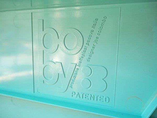 ビンテージ ビエッフェプラスト・パドヴァ BIEFFEPLAST PADOVA社 ボビーワゴン ジョエ・コロンボ 2段×2トレー ライトブルー イタリア製 MoMA ★