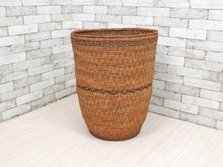 アジアン雑貨 アタ製 カゴ ランドリーバスケット バリ風 特大サイズ ●