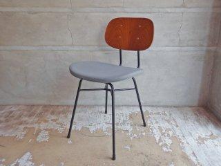 グラフ graf プランクトンチェア Plankton chair ダイニングチェア ポルトグレー チーク材 スチール脚 ファブリックシート インダストリアルデザイン A ♪