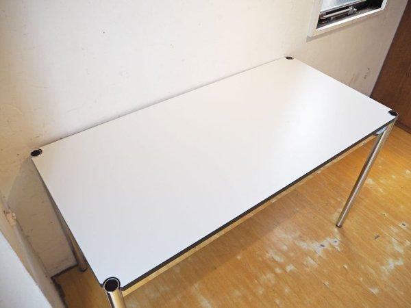 USMモジュラーファニチャー USM Haller USMハラーテーブル ワーキングデスク カンファレンステーブル W125 アジャスター 高さ調整機能付 ホワイト ★