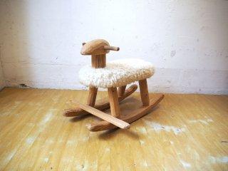 プーヤプー Puu ja puu ロッキングシープ Swing sheep スカンジナビアンパイン 羊毛 Wool100% 北欧 エストニア ハンドメイド ★