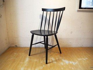 ポーランド製 無垢材 スピンドル チェア ダイニングチェア 食卓椅子 カフェスタイル アクタス購入 ★