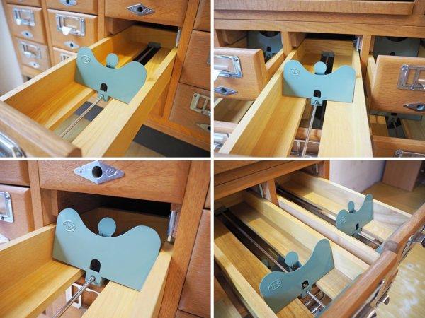 Itoi 伊藤伊 ビンテージ カードケース 図書館家具 ナラ無垢材 5列6段 30引出 木製カード容器 スライドボード スタッキング式 ★