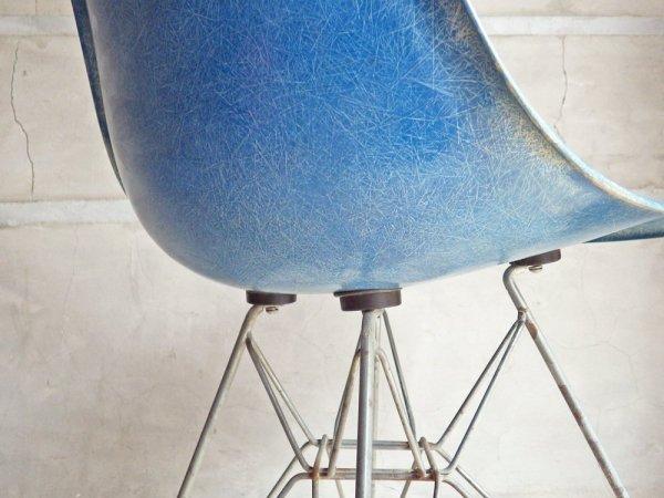 ハーマンミラー Herman Miller サイドシェルチェア 2ndビンテージ FRP製 ブルー系カラー エッフェルベース C&R イームズ ミッドセンチュリー ♪