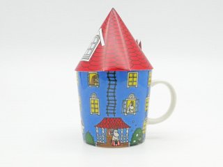 アラビア ARABIA ムーミン マグカップ 生誕70周年記念 ムーミンハウス 赤い三角屋根付き ●