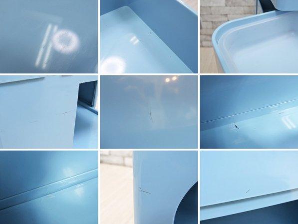 ビーライン B-LINE ボビーワゴン 3段5トレー ペントレイ付き ボニーブルー 廃盤カラー ジョエ・コロンボ イタリア ●